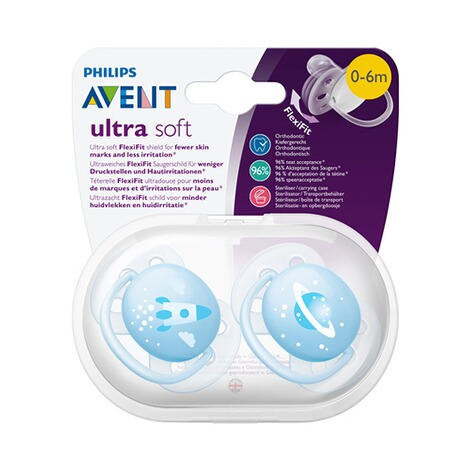 PHILIPS AVENT  2er-Pack Schnuller, SCF222/20, ultra soft, 0-6M 7