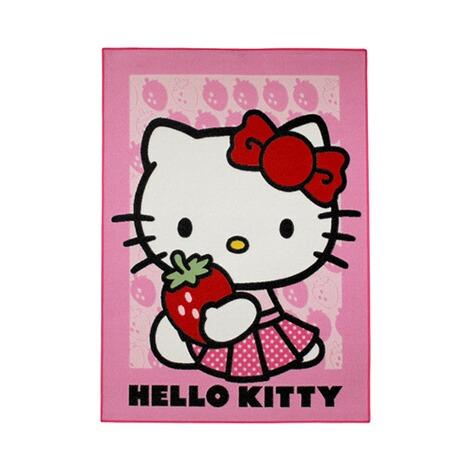 awe associated weavers teppich hello kitty straberry 95x133 cm online kaufen baby walz. Black Bedroom Furniture Sets. Home Design Ideas