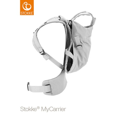 STOKKE® MYCARRIER Babytrage Front/Back, 3 Tragevarianten  Grey Cotton 4