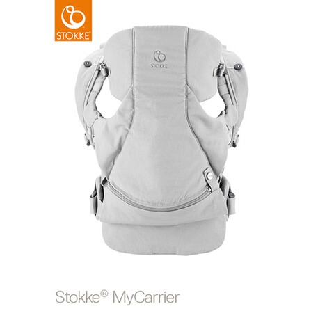 STOKKE® MYCARRIER Babytrage Front  Grey Cotton 1
