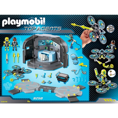 PLAYMOBIL® TOP AGENTS 9250 Dr. Drone's Command Center 4