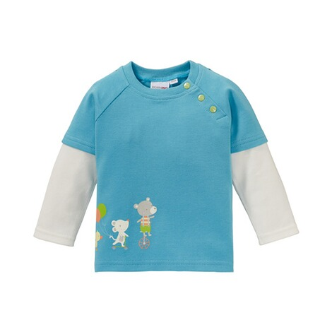 BORNINO CONFETTI ANIMALS Shirt 2in1 langarm 1