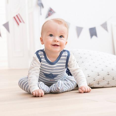 bornino little seafarer strampler set online kaufen baby walz. Black Bedroom Furniture Sets. Home Design Ideas
