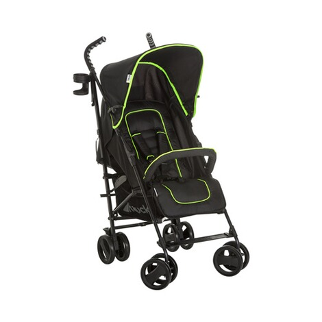 HAUCK  Speed Plus S Buggy mit Liegefunktion  caviar/neon yellow 1