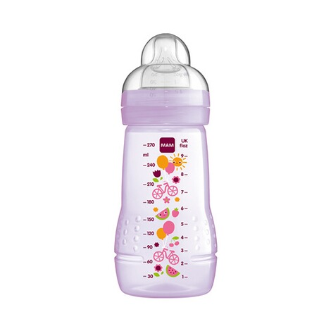 MAM  Weithals-Flasche Easy Active 270 ml, Kunststoff, ab 0M  rosa 1