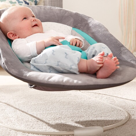 Hauck  Babywippe Alpha Bouncer 2in1  hearts grey 8