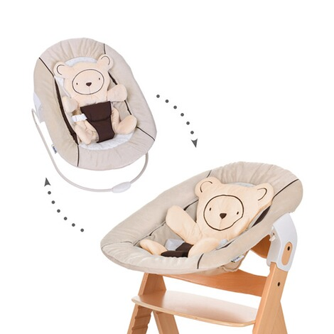 Hauck  Babywippe Alpha Bouncer 2in1  hearts beige 1