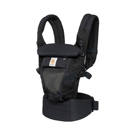 ERGOBABY® ADAPT Cool Air Mesh Babytrage, 3 Tragepositionen  Onyx Black 1