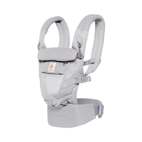 ERGOBABY® ADAPT Cool Air Mesh Babytrage, 3 Tragepositionen  Pearl Grey 1