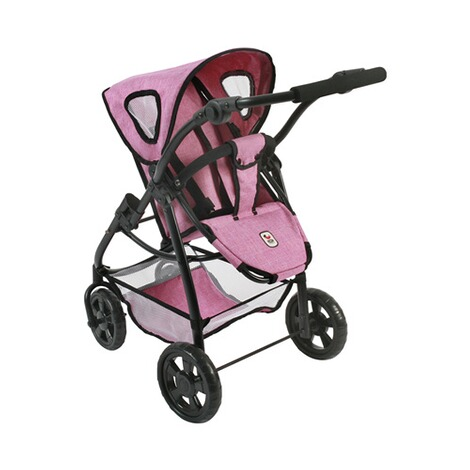 BAYER CHIC  Kombi-Puppenwagen 3 in 1 Emotion All In  jeans/pink 3