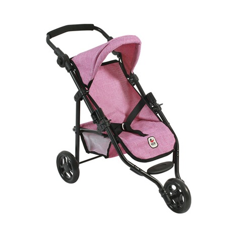 BAYER CHIC  Puppen-Jogging-Buggy Lola  jeans/pink 1