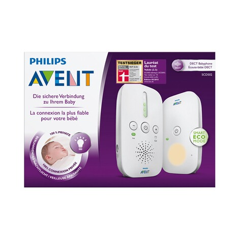 Philips Avent  DECT Babyphone, SCD502/26, Smart Eco-Mode 4