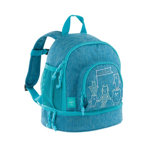 LÄSSIG  Kinderrucksack Mini Backpack About Friends  mélange blue 1