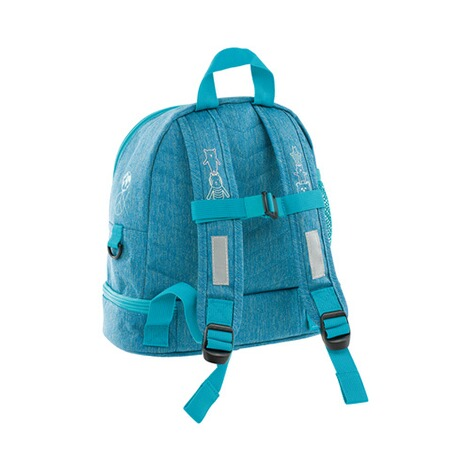 LÄSSIG  Kinderrucksack Mini Backpack About Friends  mélange blue 2