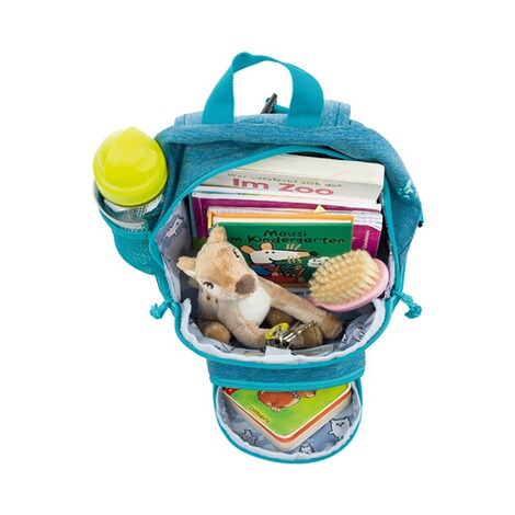 LÄSSIG  Kinderrucksack Mini Backpack About Friends  mélange blue 3
