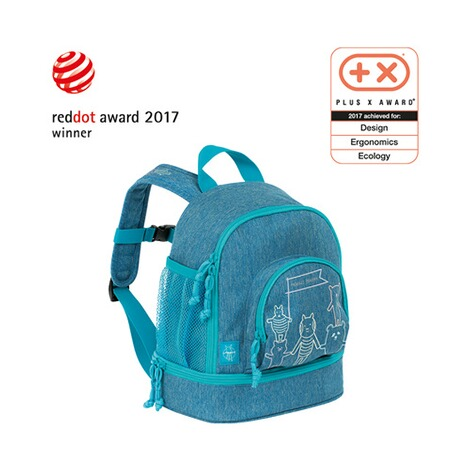 LÄSSIG  Kinderrucksack Mini Backpack About Friends  mélange blue 4