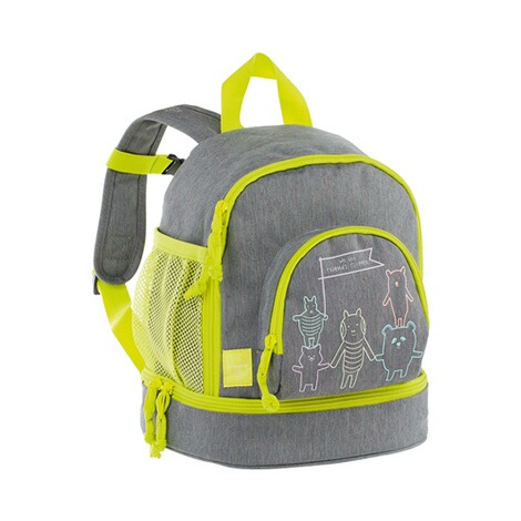 LÄSSIG  Kinderrucksack Mini Backpack About Friends  mélange grey 1