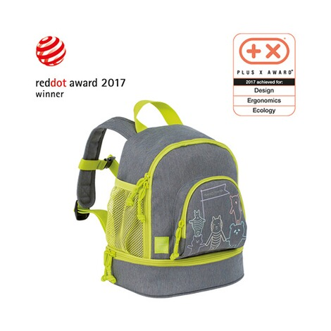 LÄSSIG  Kinderrucksack Mini Backpack About Friends  mélange grey 4