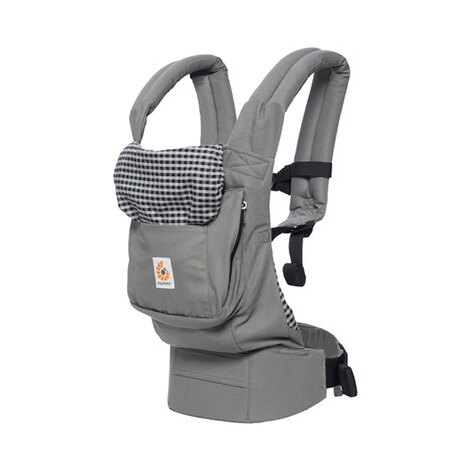 ERGOBABY® ORIGINAL Babytrage, 3 Tragepositionen  Steel Plaid 1