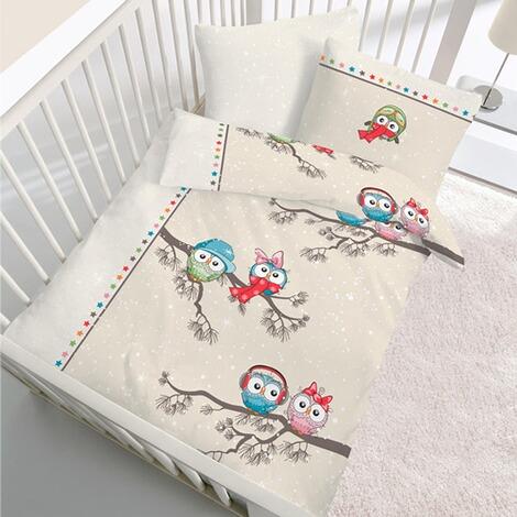 ido biber bettw sche eule 40x60 100x135 cm online kaufen baby walz. Black Bedroom Furniture Sets. Home Design Ideas
