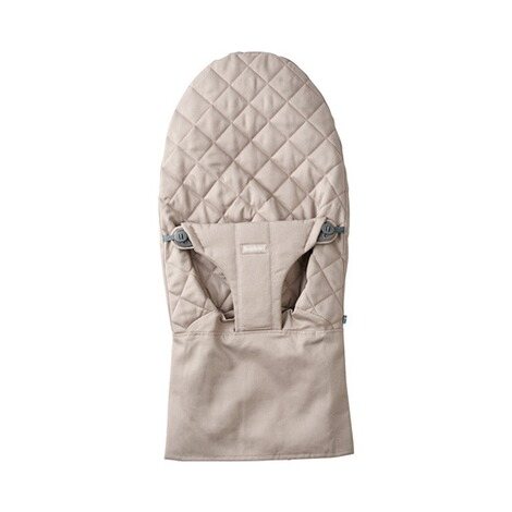 BABYBJÖRN  Stoffsitz für Wippe Bliss Cotton  Sand grey 1
