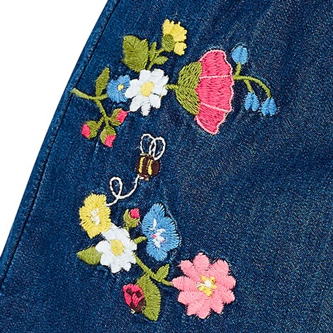 MAYORAL  Jeans-Shorts Blumenstickerei 3