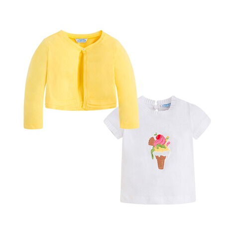 MAYORAL  2-tlg. Set T-Shirt und Cardigan Eis 3