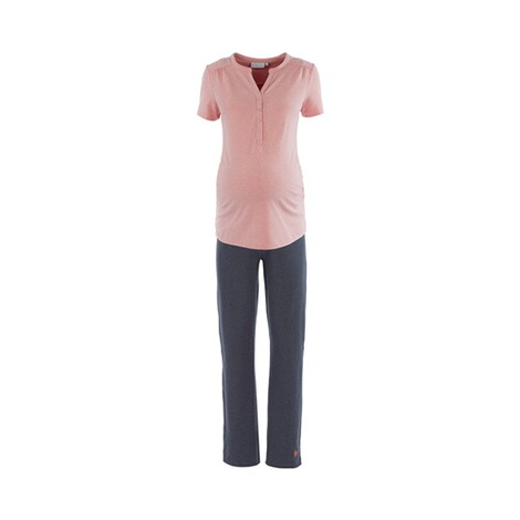 2HEARTS WE LOVE BASICS Umstands- und Still-Pyjama Sweet Dreams lang 1