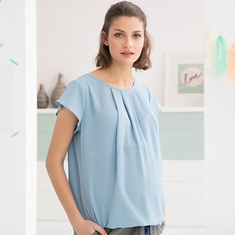 2hearts WE LOVE BASICS Umstands-Bluse Mermaid 4