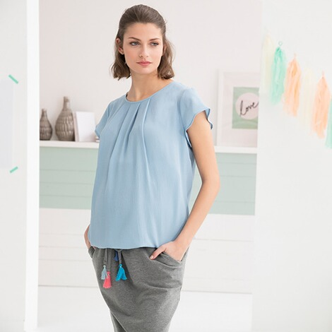 2hearts WE LOVE BASICS Umstands-Bluse Mermaid 5