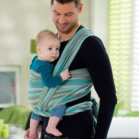 AMAZONAS SILVER LINE Babytragetuch Carry Sling 510cm  pacific 4