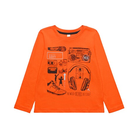 ESPRIT  Shirt langarm Music  orange 1