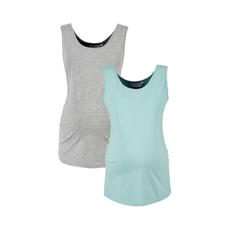 2HEARTS MERMAID IN LOVE 2er-Pack Umstands-Tops  grau/aqua 1