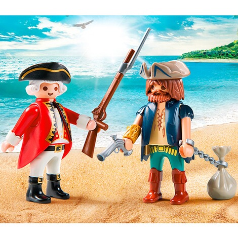 PLAYMOBIL® PIRATES 9446 Duo Pack Pirat und Soldat 2