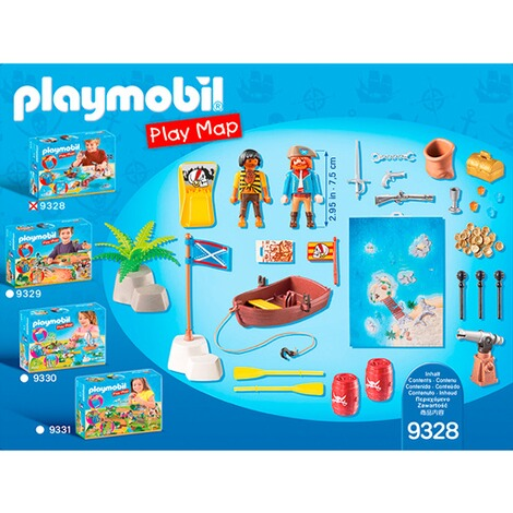 PLAYMOBIL® PLAY MAP 9328 Play Map Piraten 3
