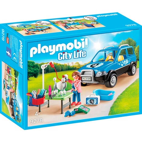 PLAYMOBIL® CITY LIFE 9278 Mobiler Hundesalon 1