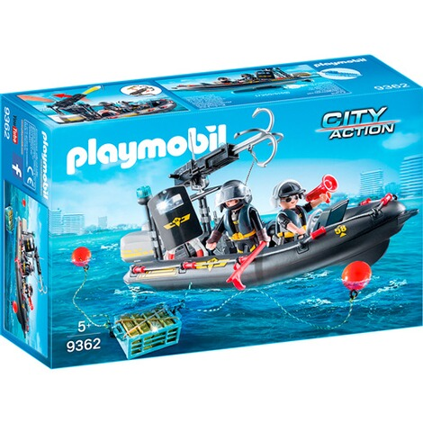 PLAYMOBIL® CITY ACTION 9362 SEK-Schlauchboot 1