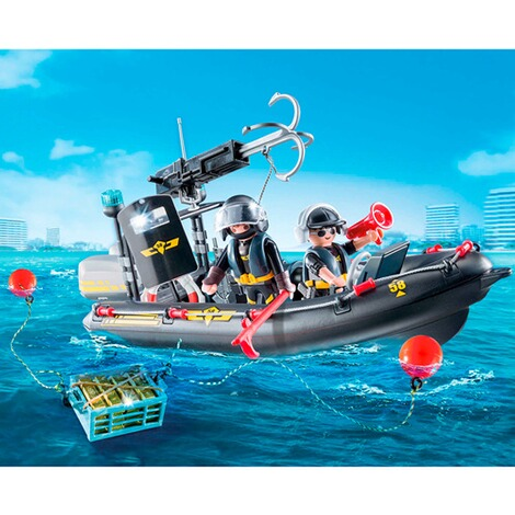 PLAYMOBIL® CITY ACTION 9362 SEK-Schlauchboot 3