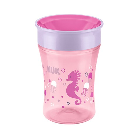 NUK  5-tlg. Trinklernset mit Starter Cup, Magic Cup, Fun Cup  pink 5