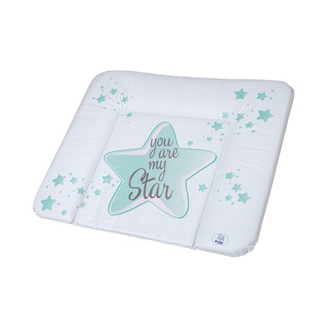 ROTHO BABYDESIGN  Wickelauflage You are my Star 72x85 cm  swedish green 1