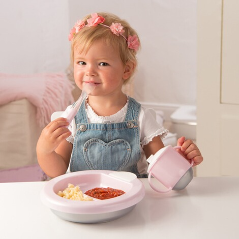 ROTHO BABYDESIGN  Warmhalteteller Modern Feeding  tender  rose 2