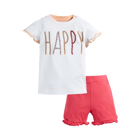 ESPRIT  2-tgl. Set T-Shirt und Shorts Happy 1