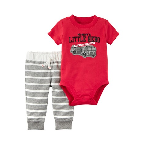 CARTER´S  2-tlg. Set Body kurzarm und Jogginghose little Hero 1