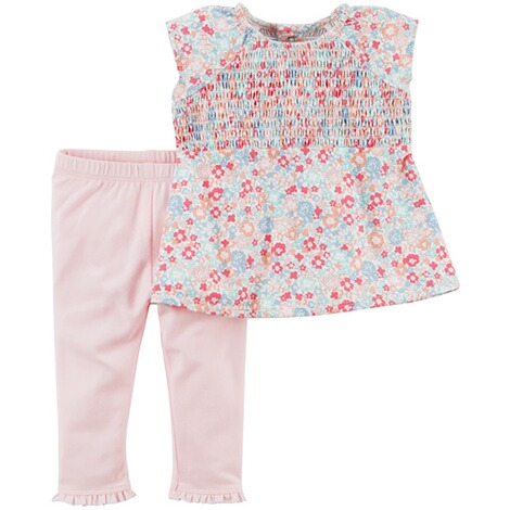 CARTER´S  2-tlg. Set Tunika kurzarm und Leggings Blumen 1