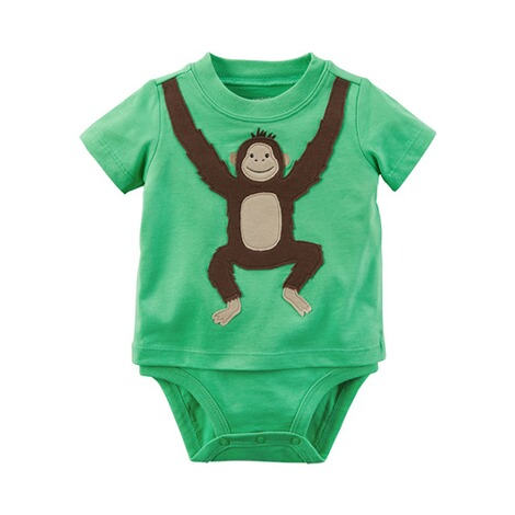 CARTER´S  Shirt-Body kurzarm Affe 1