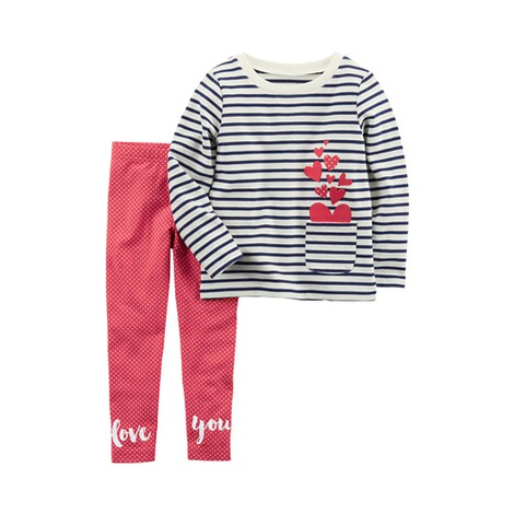CARTER´S  2-tlg. Set Sweatshirt und Leggings Love you 1