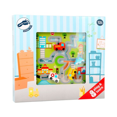 SMALL FOOT  Schiebe-Puzzle City aus Holz 2