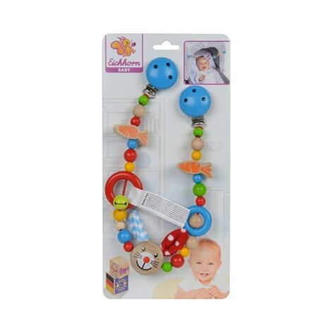 Eichhorn Holz Kinderwagenkette Buggy Kette Maxi Cosi Spielzeug Baby Spielzeug