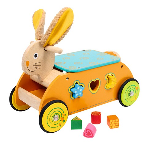 SMALL FOOT  Motorikwagen Hase aus Holz 1