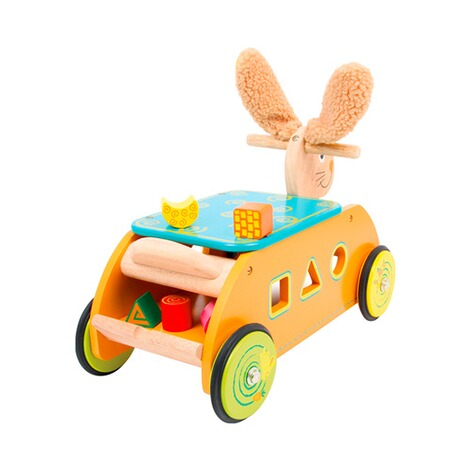 SMALL FOOT  Motorikwagen Hase aus Holz 2